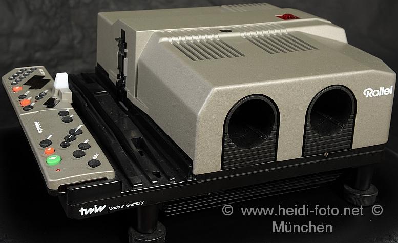 Rollei MSC 300 P twin Diaprojektor Rolleivision IR Fernbedienung neue HLX Lampen