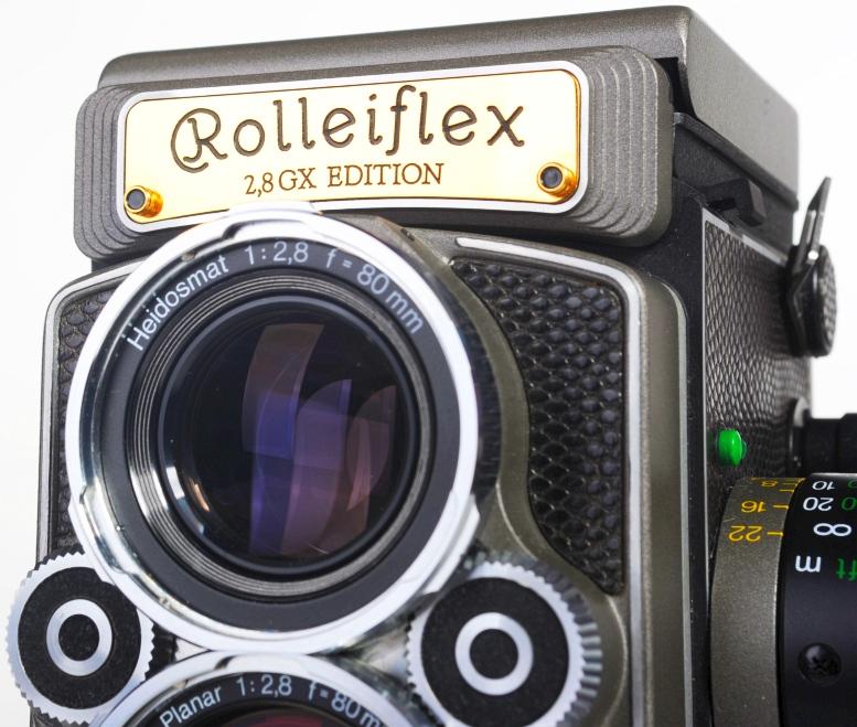 Rolleiflex 2.8GX limited Gold/Leder Edition 1989 TLR - wie neu komplett in OVP