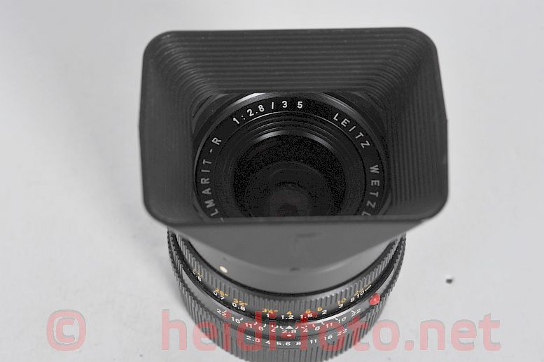 28/2.8 ELAMRIT R LEICA with sunshade in black/ schwarz
