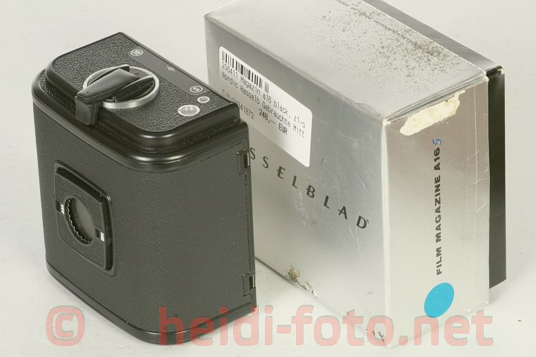 Hasselblad Magazin A16 S black / schwarz in OVP