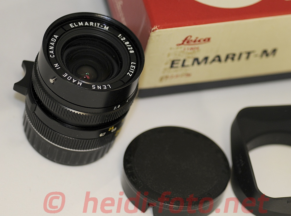28/2.8 Leica ELMARIT M w.sunshade in top condition