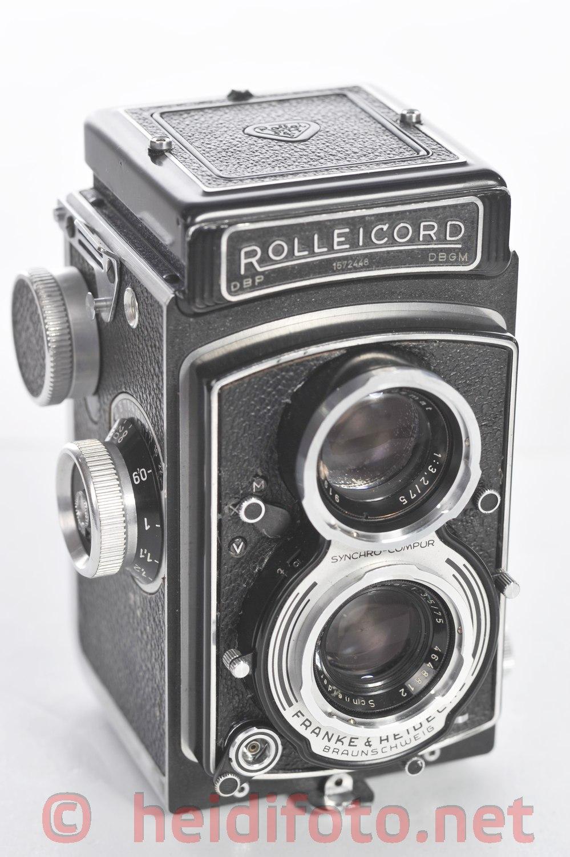 Rolleicord 75/3.5 Schneider Xenar Rolleiflex m.Synchro Cmpur
