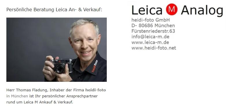 Leica M Kameras München Ankauf Verkauf