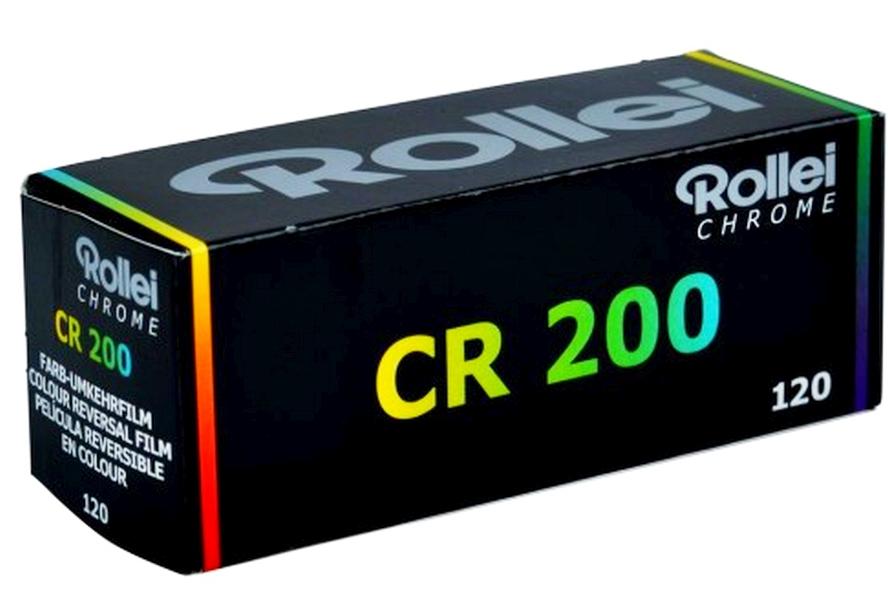 Rollei CR 200 120 Farb- Diafilm E-6  4,5x6 6x6 6x7